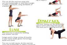 Afvallen - fitness oefeningen