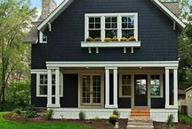 Black house exteriors