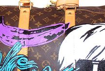 painted handbags