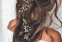 Katy's wedding hair