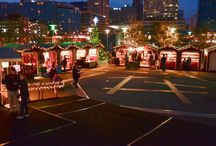 Christmas Village in Baltimore / Christmas Village in Baltimore is a combination of an outdoor and indoor Holiday Market at West Shore Park in the Inner Harbor. The event is modeled after the traditional Christmas Markets in Germany like the famous Christkindl Market in Nuremberg.  From Thanksgiving through Christmas Eve (Sun-Thur 11am-7pm, Fri-Sat 11am-8pm) vendors in more than 40 booths sell traditional European food, sweets and drinks.