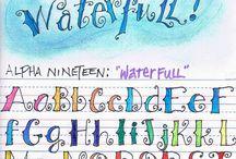 monogram calligraphy / monogram calligraphy doodle