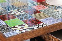 Mesa com.azulejos