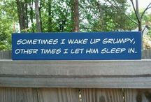 Funny Wooden Signs / by Craft Corners Craft Ideas