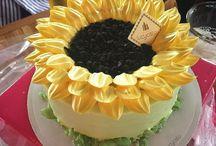 해바라기케이크 sunflower cake