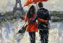 Art - Walking in the Rain