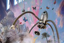 """Sculptures de """"Kay explorateurs"""" / La compagnie """"Kay explorateurs"""" imagine, invente et fabrique dans ses usines, les véhicules nécessaires aux expéditions. Destinées aux équipages les plus avertis, ces magnifiques machines se sont aventurées dans le monde entier. Des explorateurs chevronnés ont ainsi pu témoigner des merveilles de notre planète et en ramener photos, spécimens et échantillons. Bien entendu, il ne tient qu'à vous d'y croire..."""
