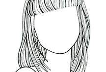 """STRAIGHT HAIR AND FACIAL SHAPES / """"Beauty begins the moment you decide to to be yourself"""" Coco Chanel"""