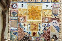 Mosaik und Kieselstein