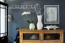 Dark Wall Colors / I have always liked the idea of a dark color on the wall. I am Defn going to paint done feature walls in my house.
