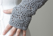 Crocheted/knitted Arm warmers or fingerless gloves / by Samantha Karr-Tom