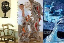 alain GIRELLI ~ Artiste / ARBRE MORT AU VIVANT DANS L'ESPACE ART