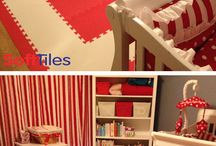 Decorating Nurseries / SoftTiles Interlocking Foam Mats used to decorate nurseries and create baby play mats.