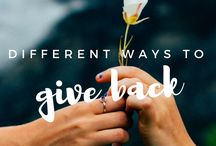 Charity Projects & Giving Back / Charitable Giving Ideas, Volunteering, Charities, Community Service, Giving Back to the Community, Random Acts of Kindness, etc.