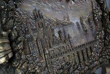 """Panno """"medieval castle """" / 1.5m X 0.9m"""