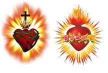 sagrado coraçao de jesus e maria