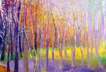 Wolf Kahn Paintings Oil