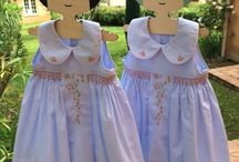 Smocked dresses / Handmade smocked dresses designed in France, 100% handmade and cotton.