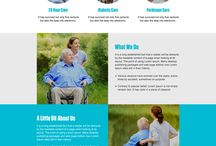 elderly care landing pages