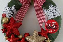 wreath  christmas coronita de craciun / Coronițe de Crăciun,  confecționate pe suport de polistiren și îmbrăcate în saten.