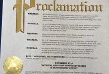 National Adoption Month / We celebrate National Adoption Month every November.