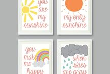 Baby's room / Ideas for our weather themed baby room