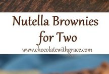 Nutella Brownies for 2