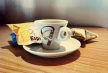 Enjoy a coffee / Godetevi un buon caffè italiano. Enjoy a good Italian Coffee.