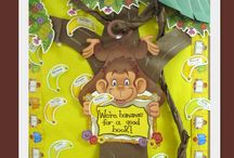 "Monkey Fun (Song) / ""Monkey none, monkey one -- now let's have some monkey fun. Monkey two, monkey three -- let's all climb in the monkey tree. Monkey four, monkey five -- join me in some monkey jive. Monkey six, monkey seven -- jump up and down like monkey heaven. Monkey eight, monkey nine -- act like monkeys mighty fine. ACT LIKE A MONKEY!!"" / by Debbie Clement"