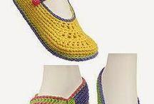 meu sapatos de croché