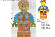 The Lego Movie free cross stitch patterns / The Lego Movie free cross stitch patterns