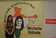 """The Great India Quadrilateral Run / The Great India Quadrilateral Run is about Michelle Kakade, who is set to attempt a Guinness World Record for """"Fastest time to travel the Indian Golden Quadrilateral on foot (female)"""" by running 6010 km, covering 57 major cities in India and on the country's most valuable and largest highway project, 'The Golden Quadrilateral'. Michelle will be running for 181 days in 164 stages, covering a distance of 143 Full Marathons."""