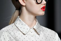 Red lips & glasses