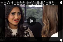#FearlessFounders / A new crop of brilliant female founders are changing the game. Smart and stylish, they are creating innovative ways to shop, consume, share, and analyze. GLAM checks in with them. / by Glam