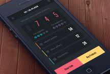 Dark iOS design