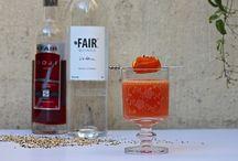 ORANGE COCKTAILS / Fun and fancy cocktails for an orange colour theme