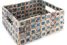 craft - papierowa wiklina (newspaper basket)