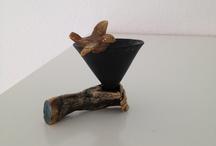 Kunst / Zoutvaatje#porselijn#ketamik#bronz