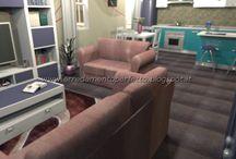 Il blu per arredare la cucina soggiorno moderna by Consigli d'arredo