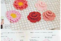 Blommor, вязаные цветы.