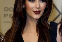 Kim Kardashian makeup/style