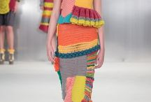 Vestido de crochet e tricot