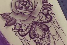 koronka i róża
