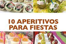 Canapés / Canapés fríos y calientes, dulces y salados, para compartir, para fiestas, para invitados. Fáciles de hacer