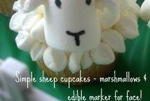 Lamb cupcake decoration
