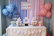 Chá de Bebê Revelação / Dicas de decoração, doces, bolos e outras ideias para as grávidas fazerem Chá de Bebê Revelação, o Chá de Bebê divertido para revelar o sexo do bebê!