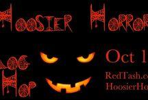 Hoosier Horror Blog Hop / Enjoy the season, Indiana-style!  Hoosier Horror Blog Hop begins 10/1 and runs through 10/5/12.  Main site is: http://RedTash.com/HoosierHorror