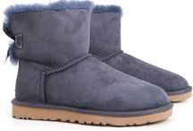 ugg boots with bows blue
