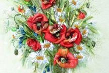 Haft wstążeczkowy / Ribbon embroidery