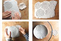 Ceramica com rendas